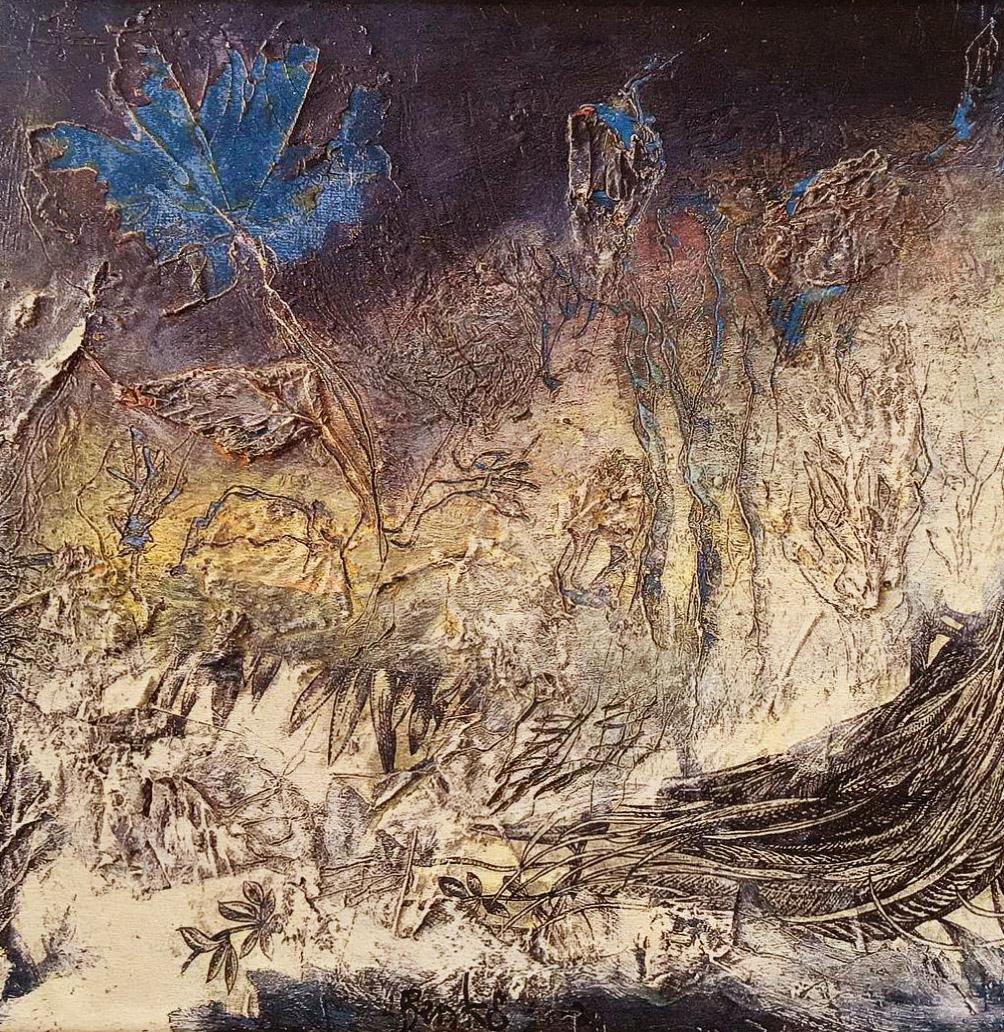 Orfeo, geweven wandkleed 200 x 200 cm