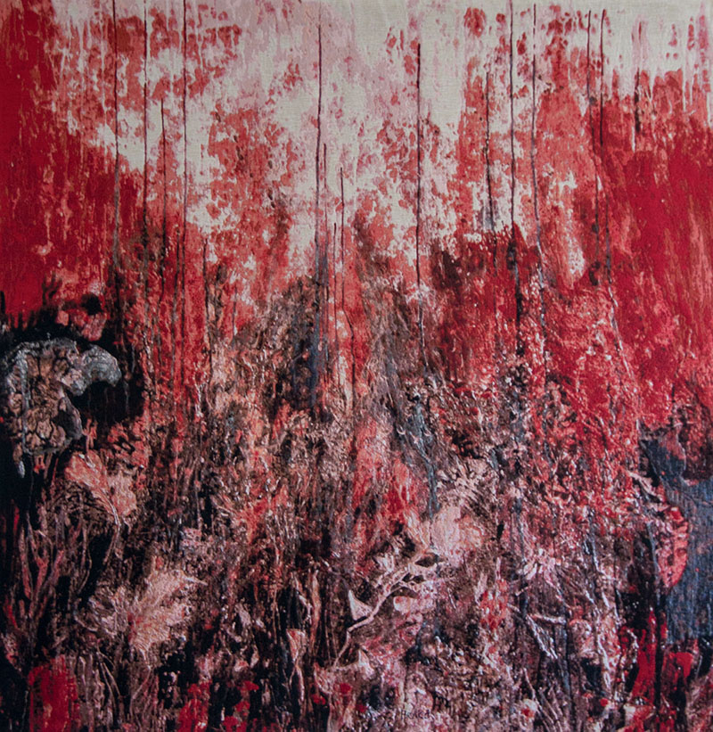 'Zomer' weefkleed 200x200 cm