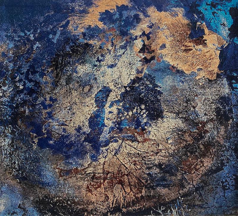 Op vleugels van de wind, weefkleed 126 x 141 cm