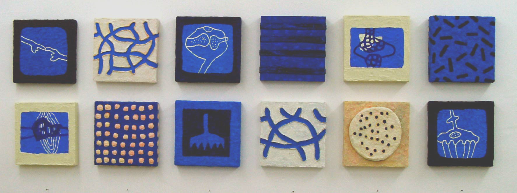 Galerie Delfi Form, paneeltjes 25x25x4 cm, gemengde techniek van Volker Altrichter