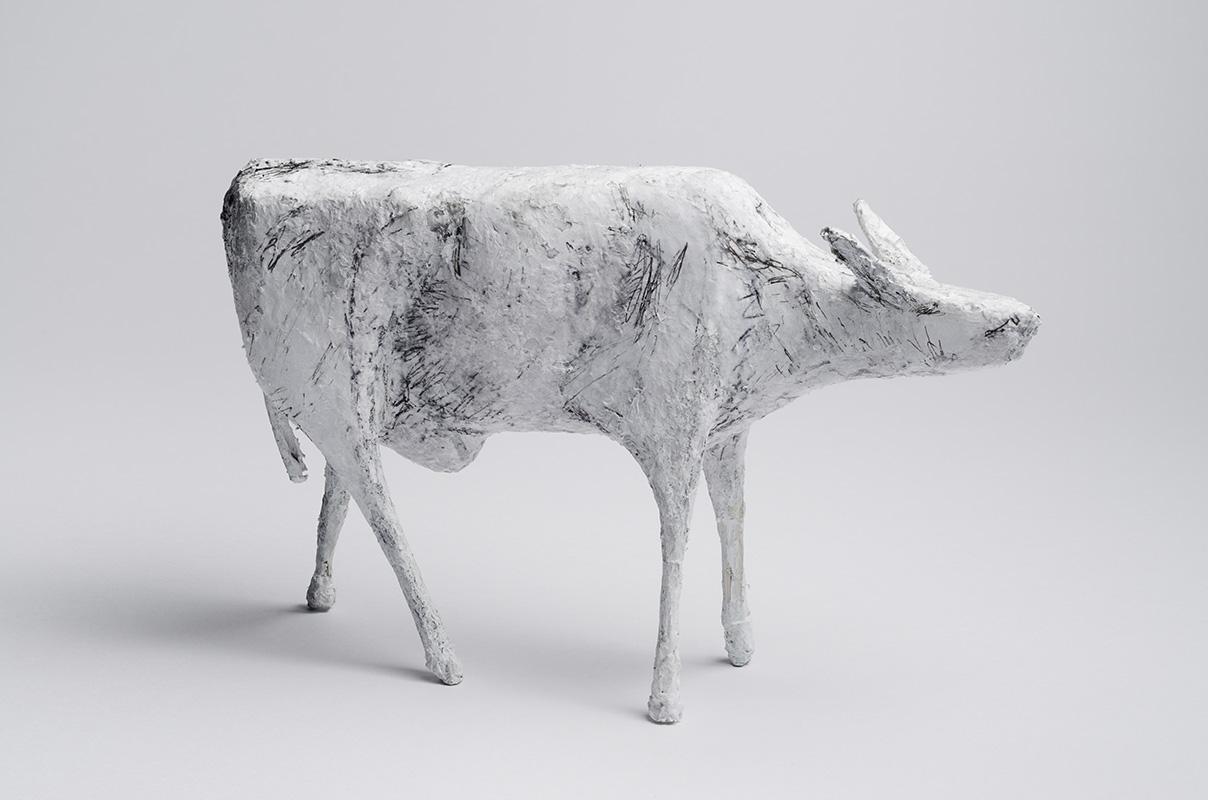 Koe, gemengde techniek, 25 cm hoog
