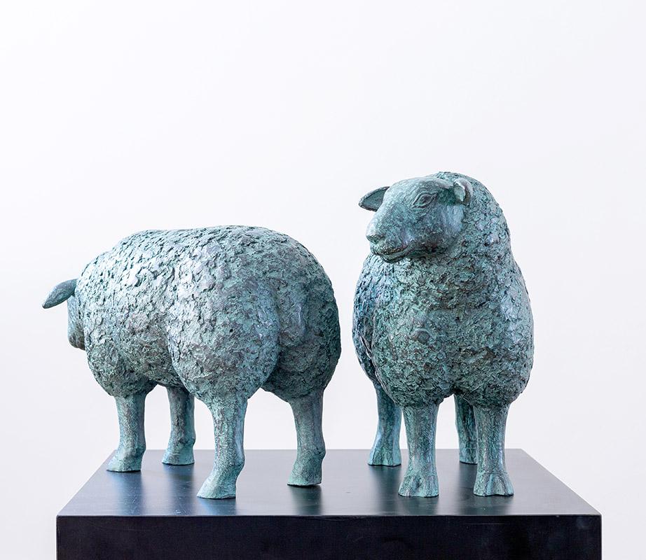 Galerie Delfi Form, Schapen, brons, 40x40x21 cm (een schaap)