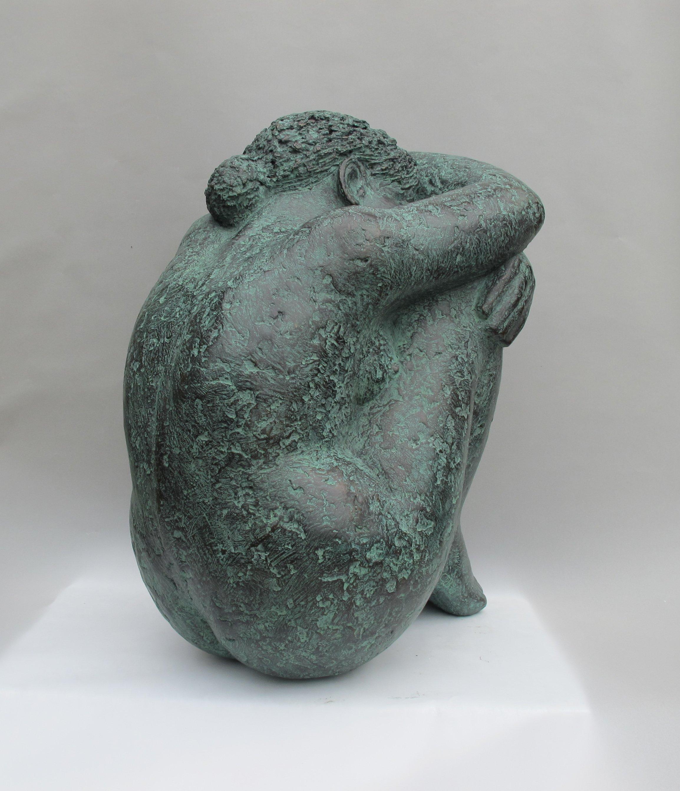 Wegdromen, brons, 46 cm hoog