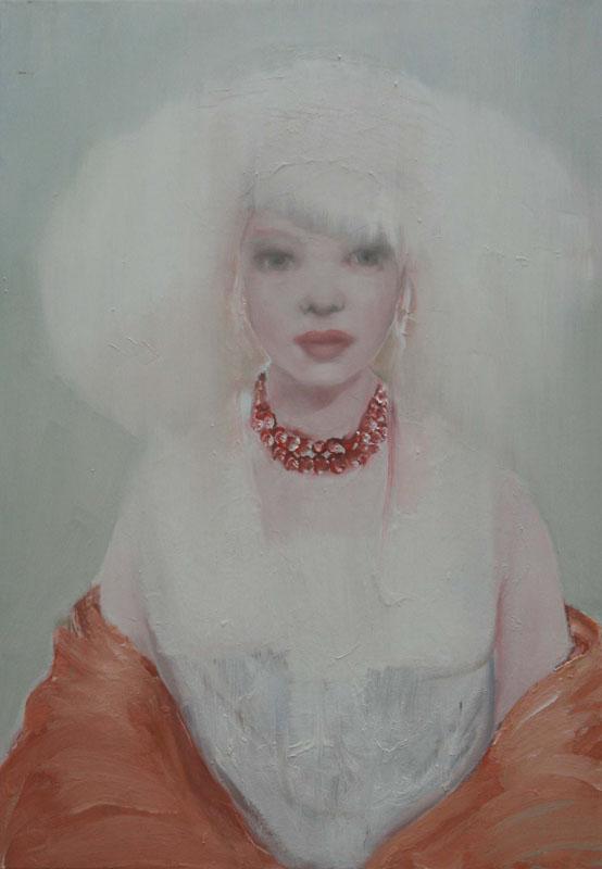 Discogirl, schilderij 100x70 cm, verkocht