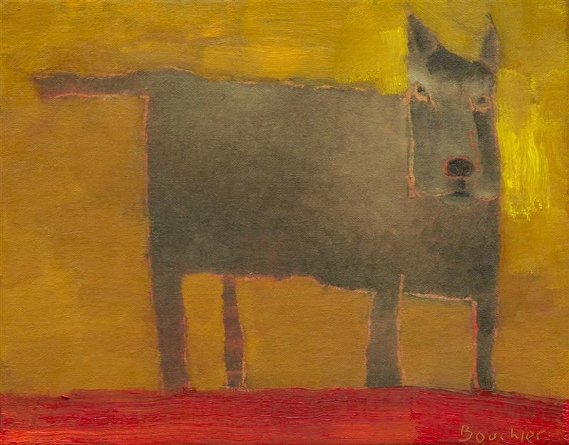 Hond I, schilderij 24 x 30 cm