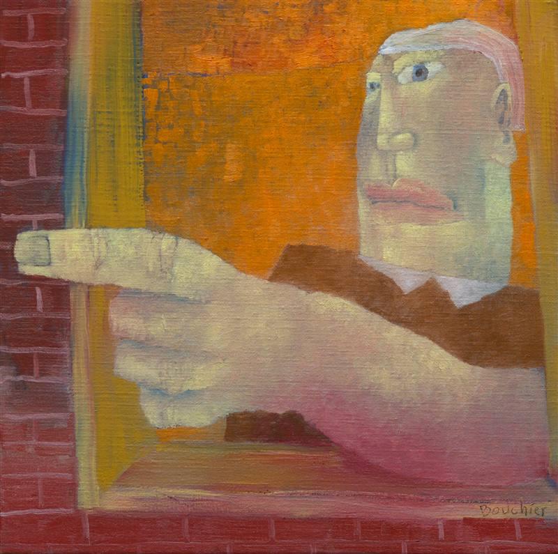 Loket, olieverfschilderij 40 x 40 cm
