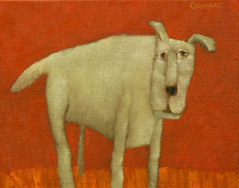 Hond III, schilderij 24 x 30 cm