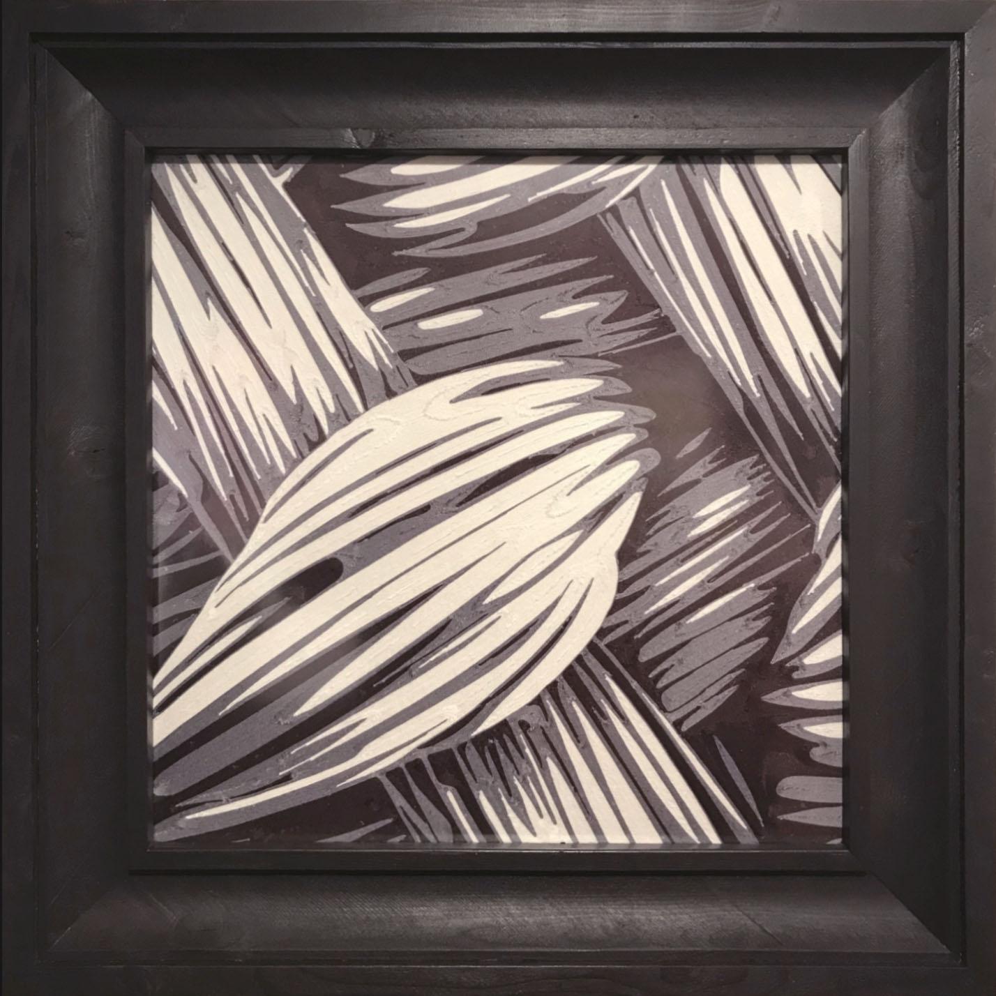 Fabrics 2, draadtechniek, 80 x 80 cm