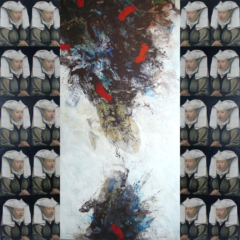 Sin titulo 2 , gemengde techniek op doek, 190x150 cm