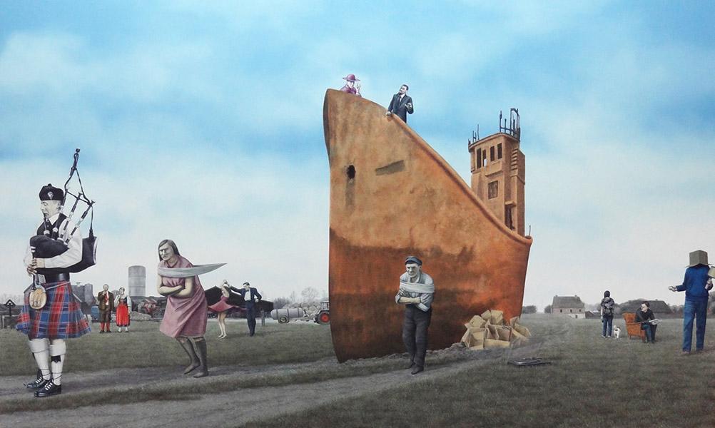 Last Post II, olieverf op paneel, 90 x 150 cm