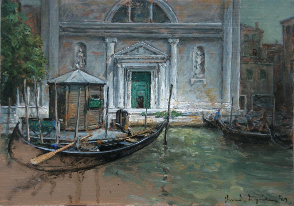 Galerie Delfi Form, San Marcuola, olieverf op linnen, 24x35 cm