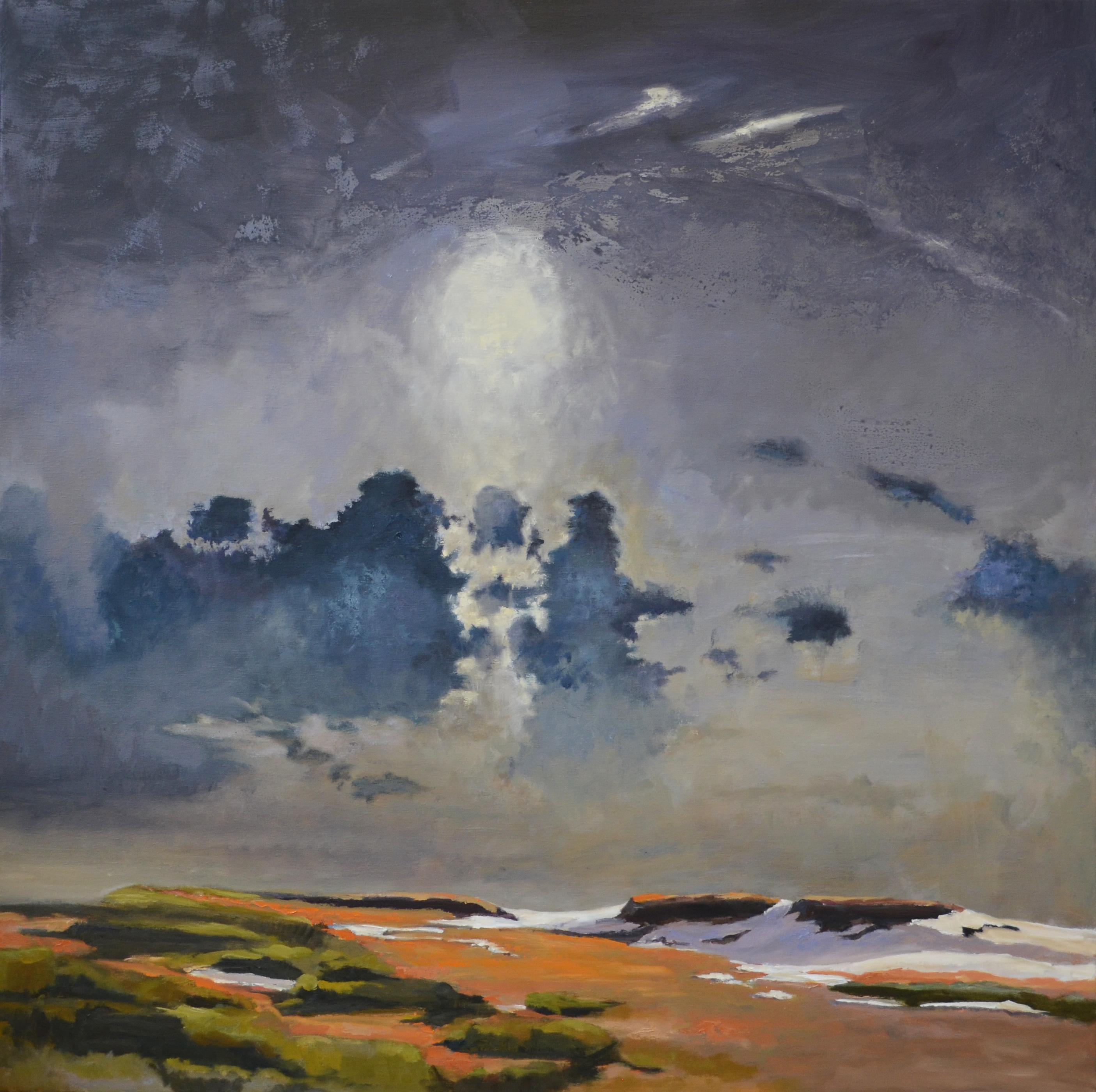 Duingebied, olieverfschilderij 140 x 140 cm