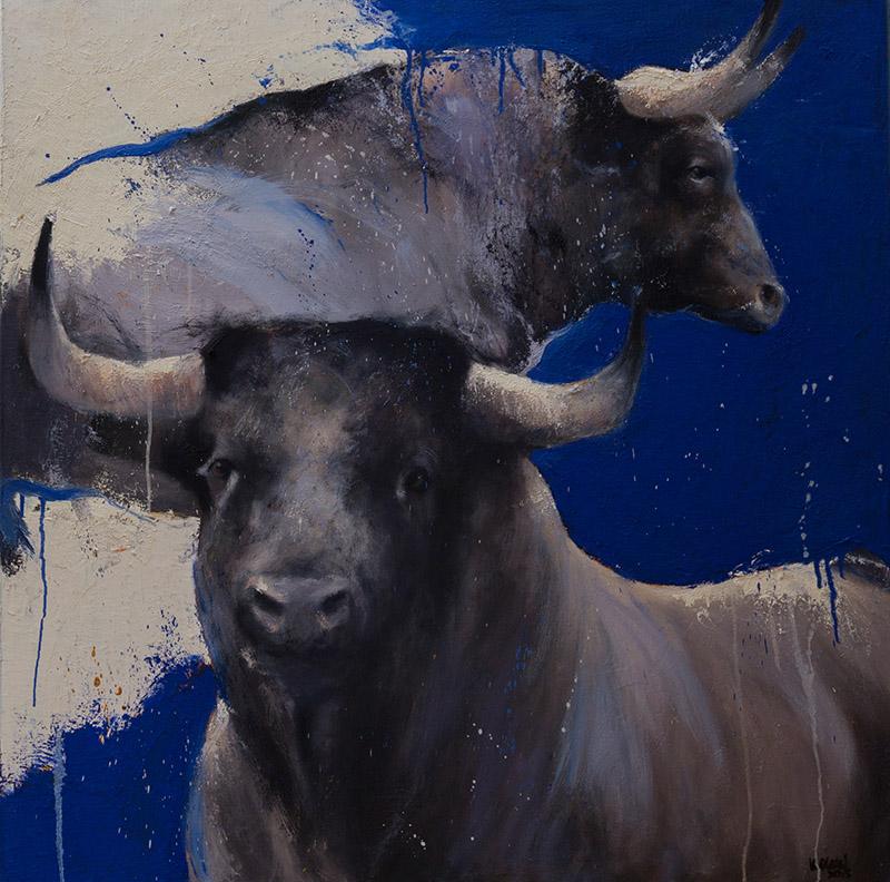 Cordoba nr 2, schilderij 100x100 cm, olieverf op doek