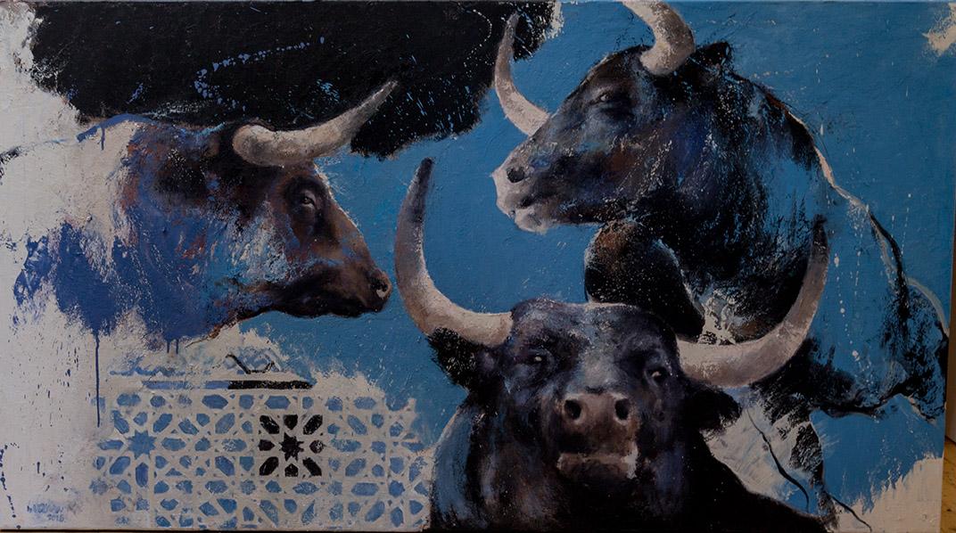 Sevilla nr 2, schilderij 100x180 cm, olieverf op doek