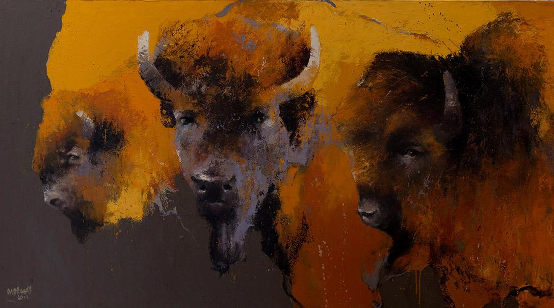 Dakota Evening, schilderij 100x180 cm, olieverf op doek