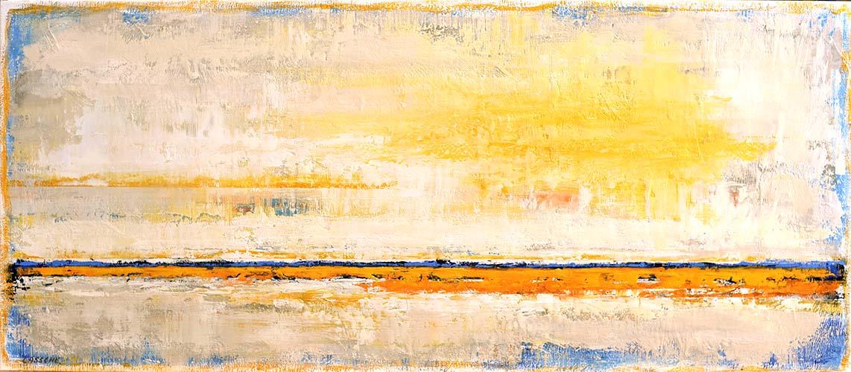 De stilte van de kunstlijn, 70x160 cm, olieverf op doek