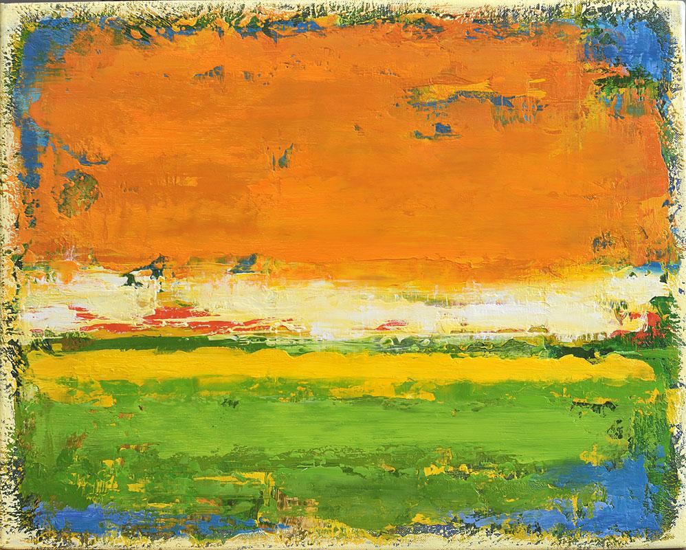 Bloeiende velden, schilderij 40x50 cm, 2016