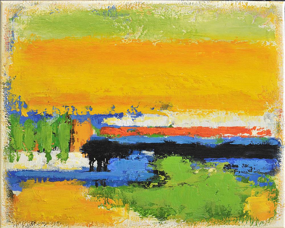 Zonnetijd, schilderij 40x50 cm, 2016