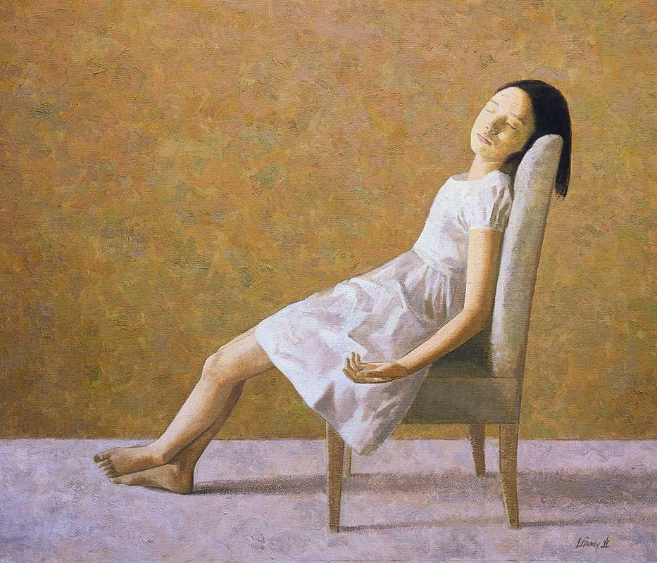 Middaglicht, olieverfschilderij 110x130 cm, verkocht