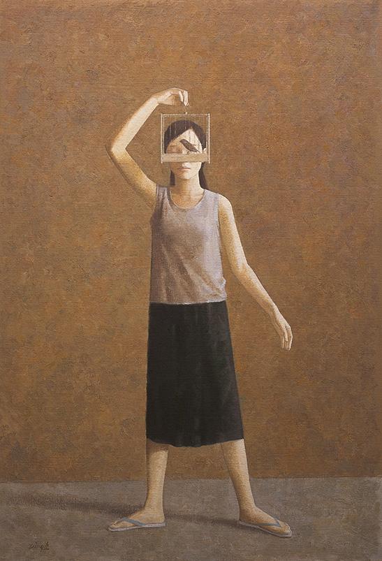 Geluid, olieverf op doek, 180 x 130 cm