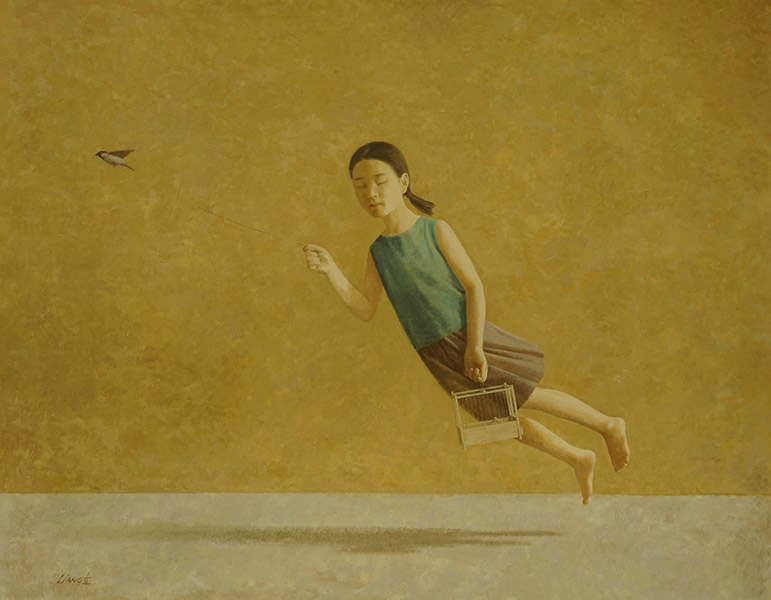 Meegaan, olieverf op doek, 140x180 cm