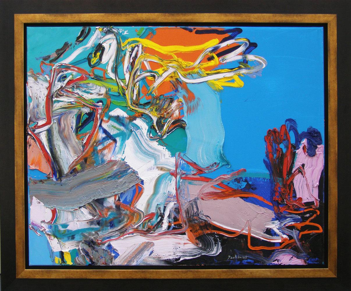 Souvenir de Bonaire, olieverfschilderij 80x100 cm