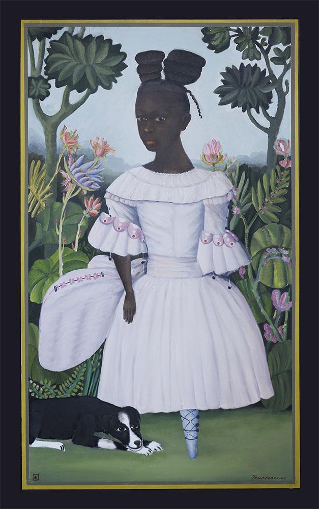 Galerie Delfi Form, Lolo, schilderij 110x180 cm van Ton Mertens