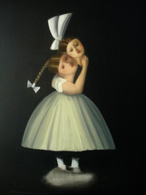 La tendresse, schilderij 50x40 cm, verkocht