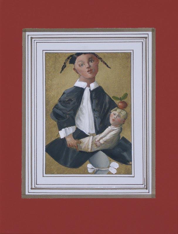 Bon sang ne peut mentir, schilderij 40x30 cm, verkocht