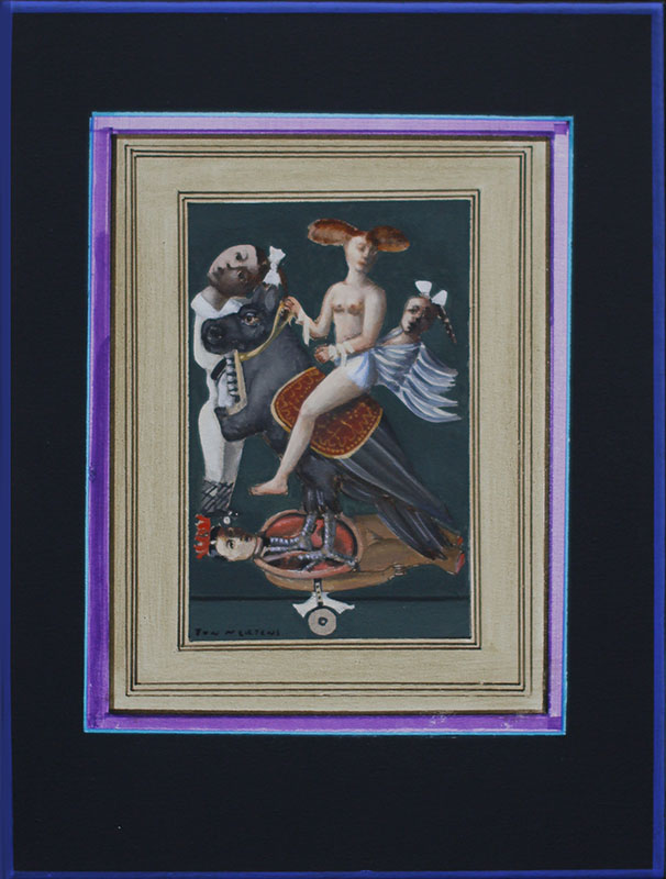 Hippo droom, schilderij 50x40x4 cm