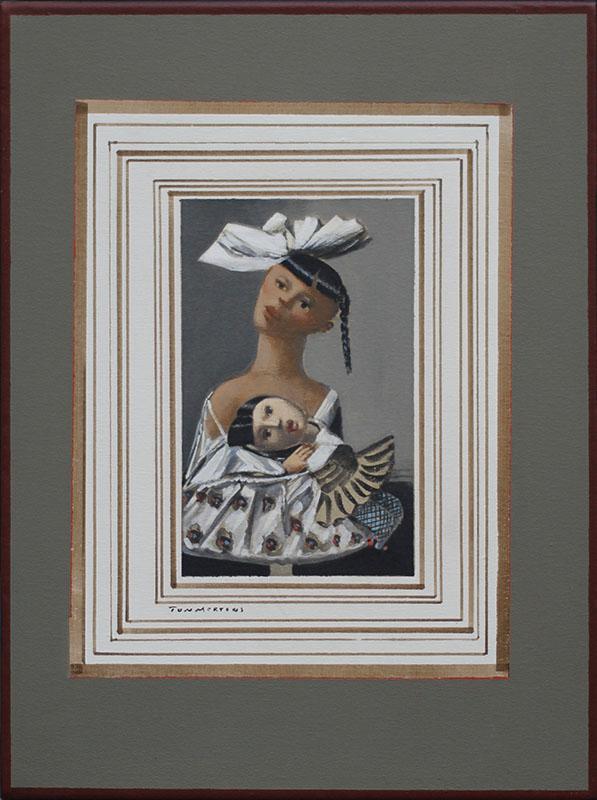 Ma poupoule, schilderij 50x40x4 cm
