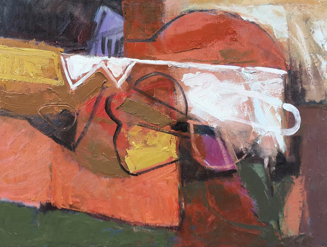 Gioco di specchi, schilderij 60 x 80 cm, 2017