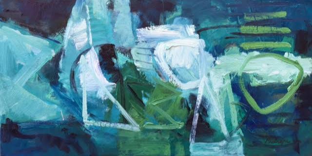 Bonanza dopo la tempesta, schilderij 40 x 80 cm, 2016