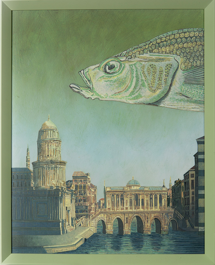 Atlantis, acrylschilderij op paneel 65 x 50 cm