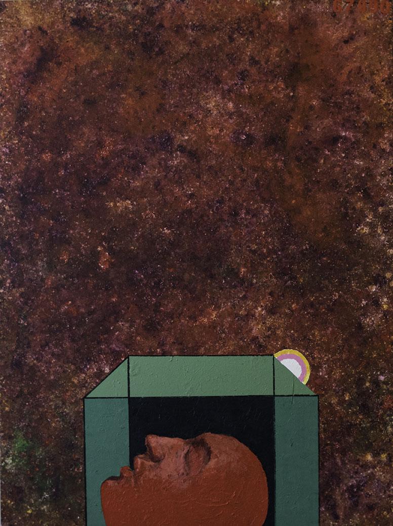 Red silent, schilderij 200x150 cm