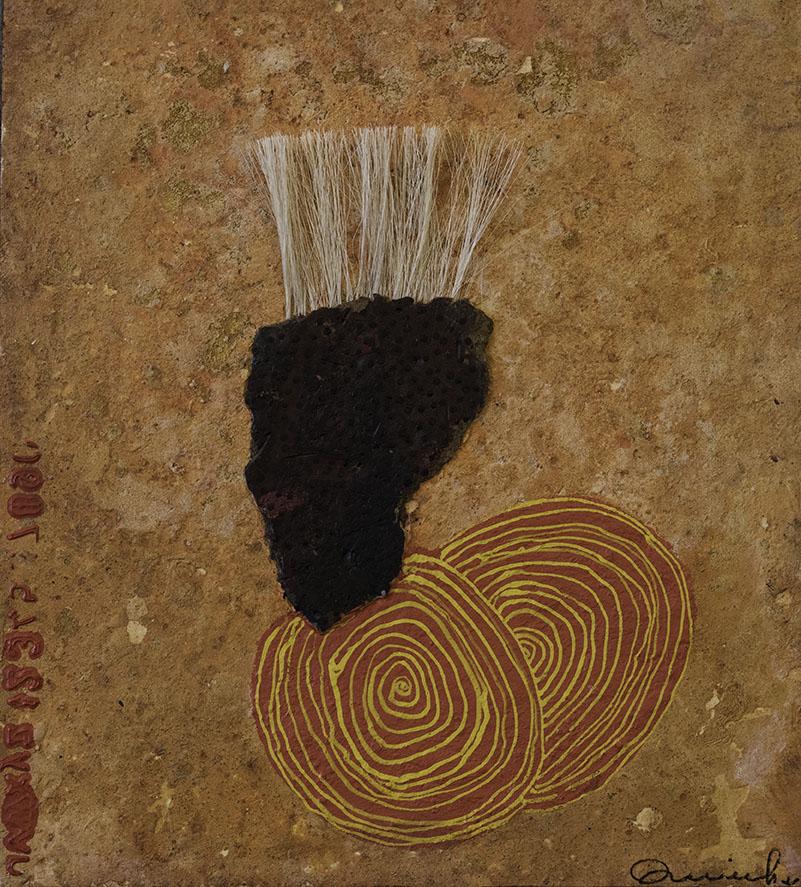 Scare crow II, schilderij 55x50 cm