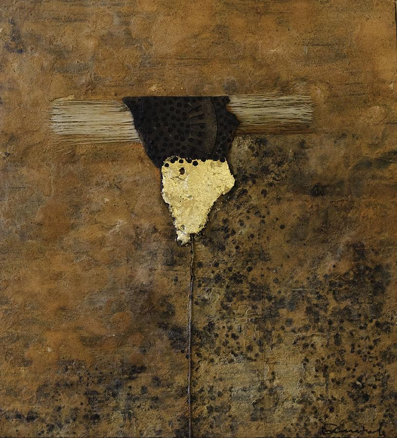 Scare crow I, schilderij 55x50 cm galerie Delfi Form