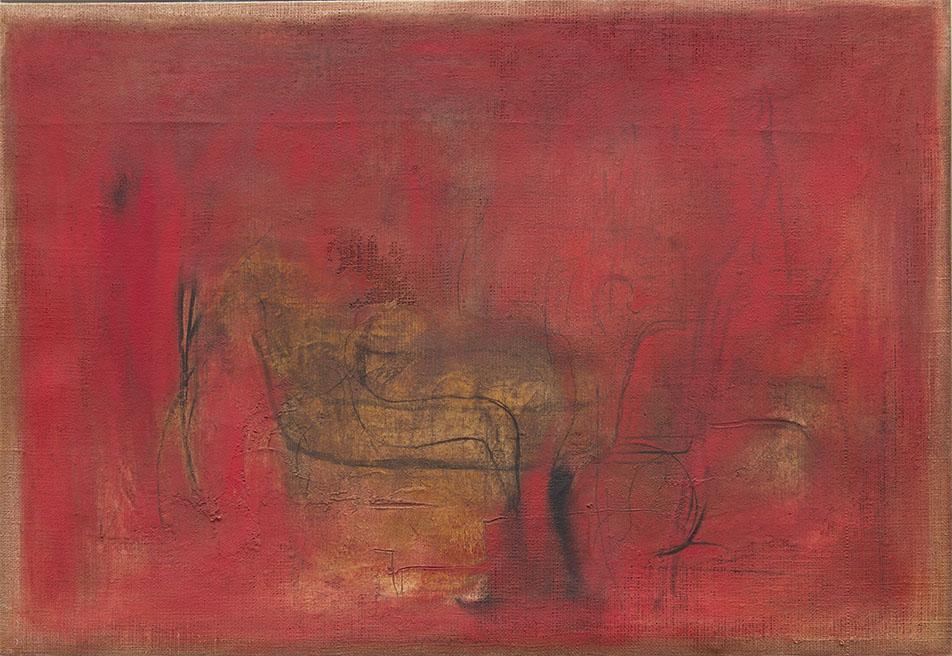 Galerie Delfi Form, Vincitore gemengde techniek op doek 83x121x6 cm van Raffaele Rossi, verkocht