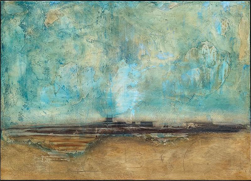 La mia Laguna, paneelschildering 75x105x6 cm