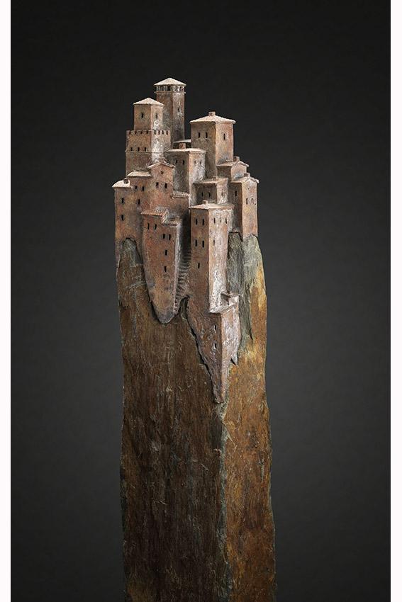 Dsiderio I'Italia, brons op leisteen, hoogte 160 cm, verkocht