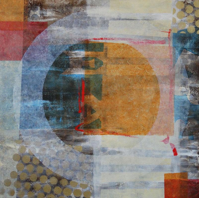 Lunette J02, schilderij 100 x 100 cm