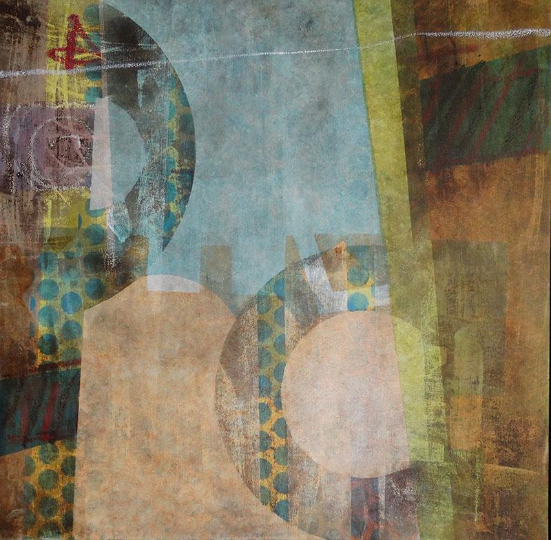 Lunette i04, schilderij 100 x 100 cm