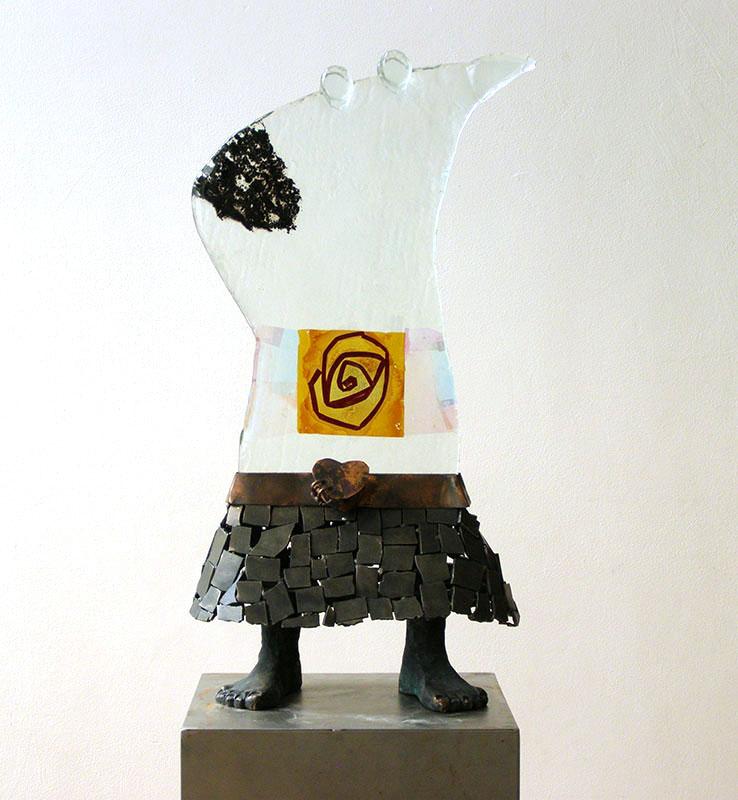 Galerie Delfi Form, De vurige liefdesroman glasobject van Sjaak Smetsers, verkocht