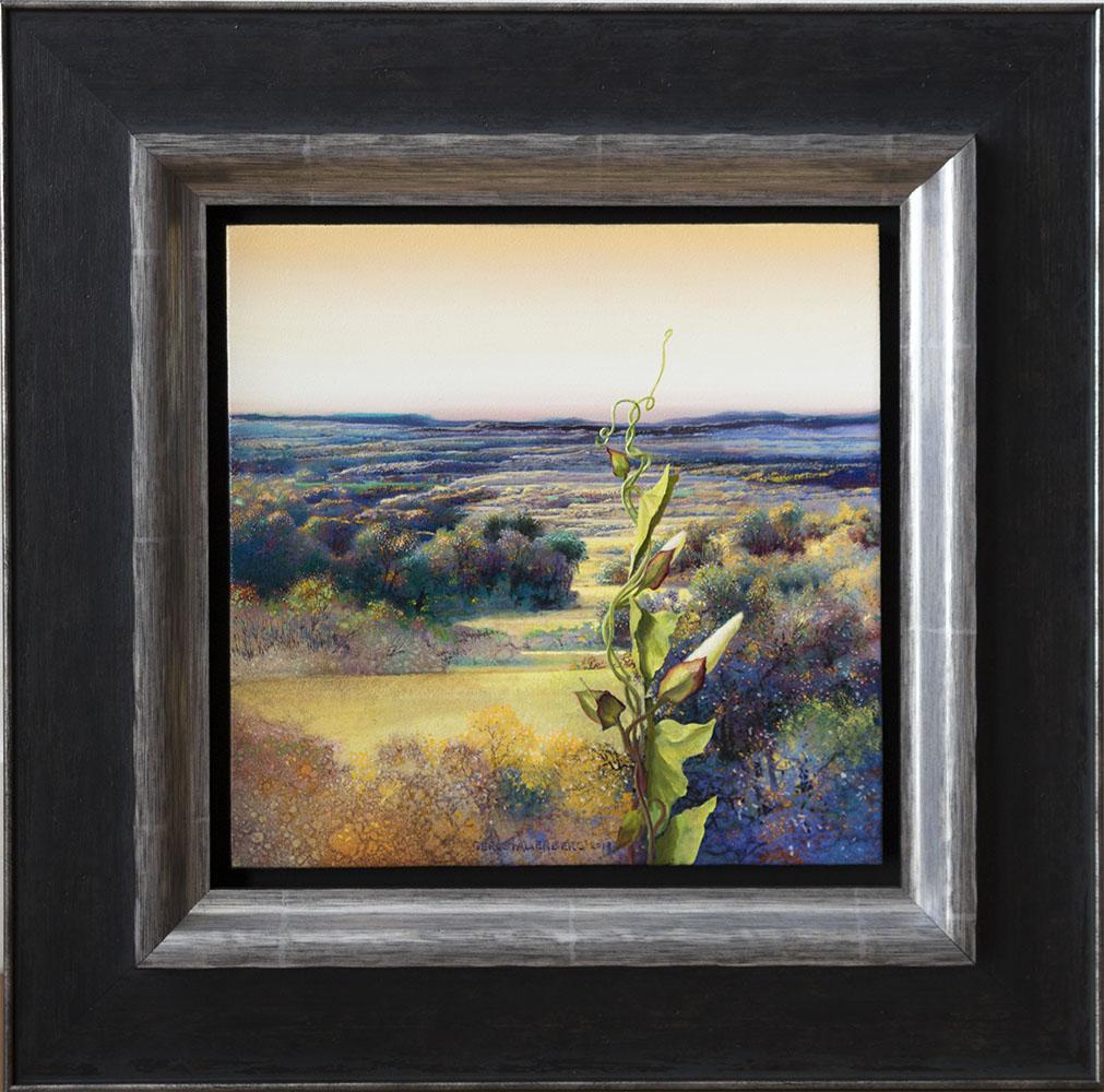 Galerie Delfi Form, Going Up olieverf op paneel 30x30 cm van Ger Stallenberg